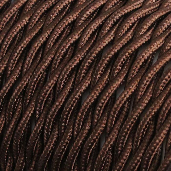 1Провод винтажный 2x1,5 коричневый витой Salcavi Италия