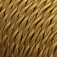 Провод ретро 2x1,5 золотой Salcavi Италия
