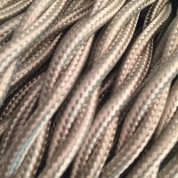 Провод ретро 2x1,5 серебристый Salcavi Италия