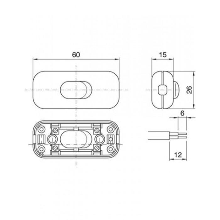 2Arditi Выключатель проходной белый , 300/V/2/P M BI INT