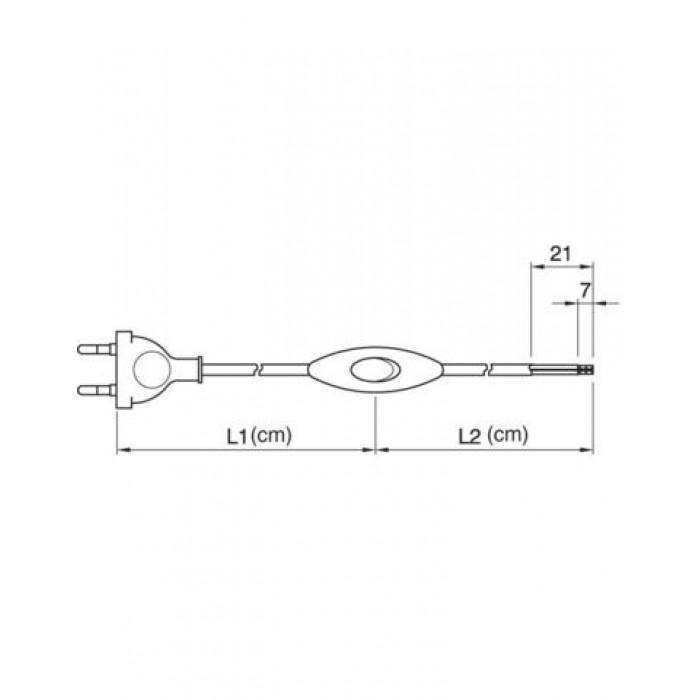 2Arditi Вилка+выключатель+провод белый 1,5м
