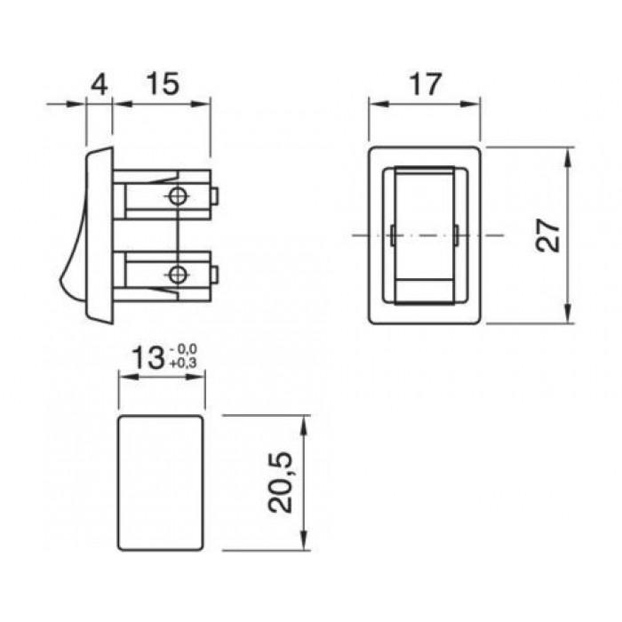 2Arditi Выключатель клавишный белый, 320 BI M INT..DA INCASSO