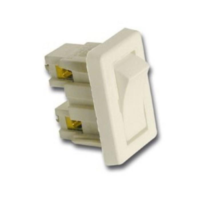 1Arditi Выключатель клавишный белый, 320 BI M INT..DA INCASSO