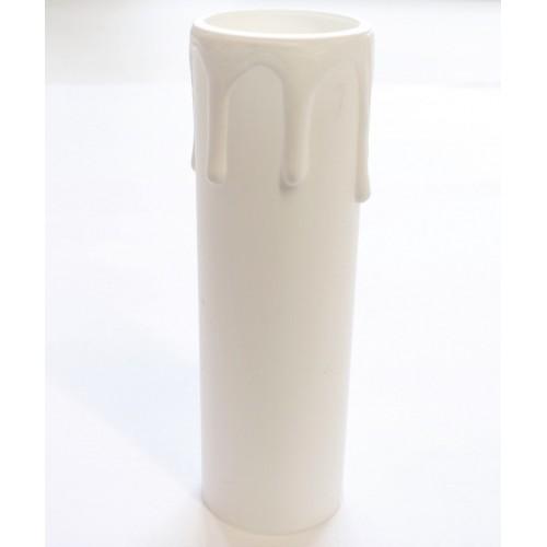 """013226 Arditi Стакан """"оплывшая свеча"""" h=70мм,d=29мм белый"""