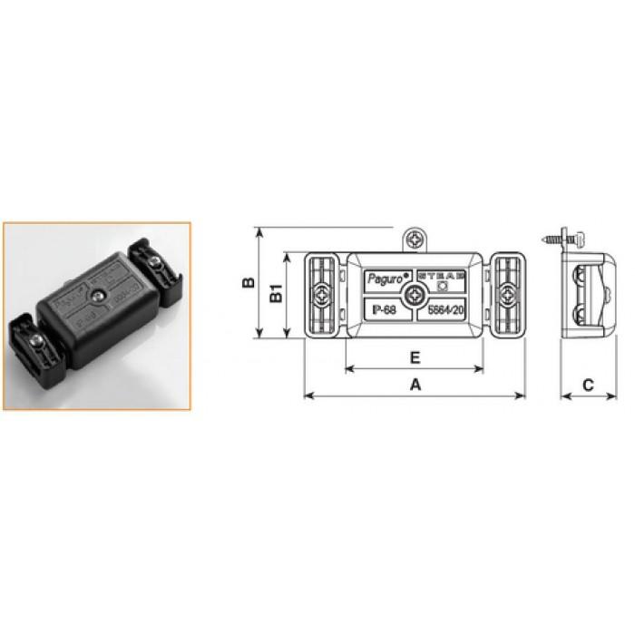 2Защитный короб 2x1 мм2 черный для параллельного соединения драйвера