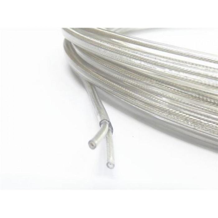 1Провод плоский ПВХ 2х0,5мм2 прозрачный