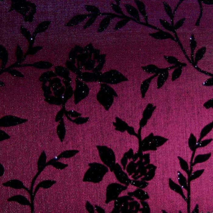 1VPF прозрачный ПВХ ткань с тонким цветочным узором 1,5х25м арт. 6699838228 фиолетовый