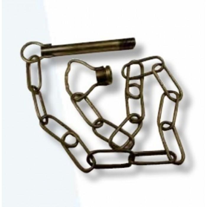 1Подвес: трубка + цепь звено 35 х 14 мм толщина 2 мм + бугель ребристый