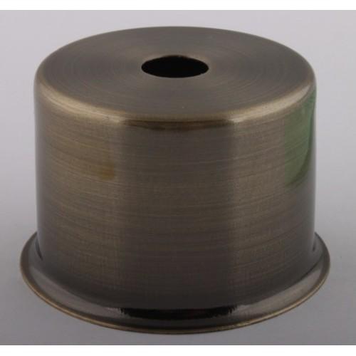 Стаканчик под патрон Е27 с бортиком, L=50 H=33, сталь, цвет антик, артикул CU27 AB