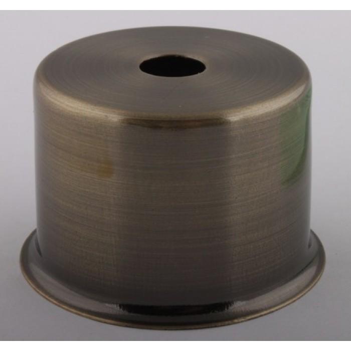 1Стаканчик под патрон Е27 с бортиком, L=50 H=33, сталь, цвет антик, артикул CU27 AB