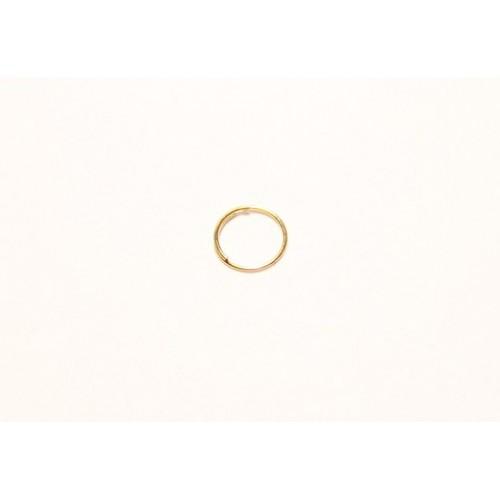 Крепеж для кристаллов кольцо 6 мм артикул FC-002-6-GO золото