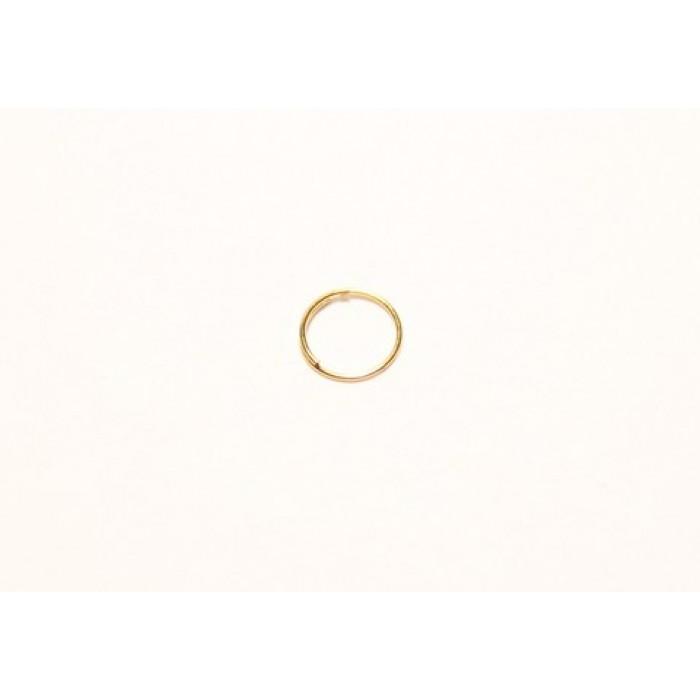 1Крепеж для кристаллов кольцо 6 мм артикул FC-002-6-GO золото
