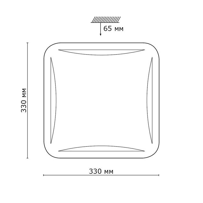 2Светодиодный накладной светильник 2055/CL Сонекс