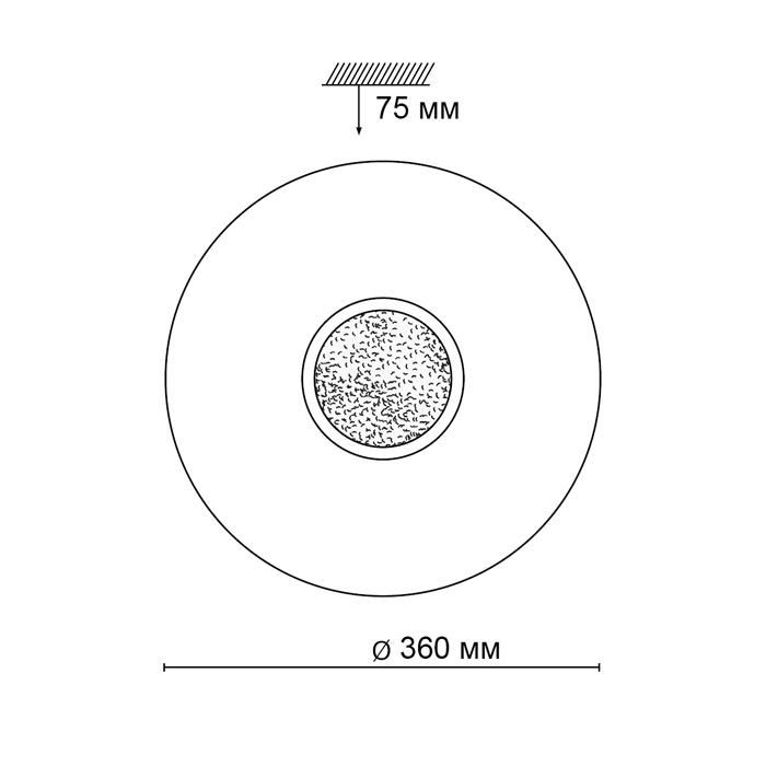 2Настенно-потолочный светильник 2074/CL Lazana Sonex