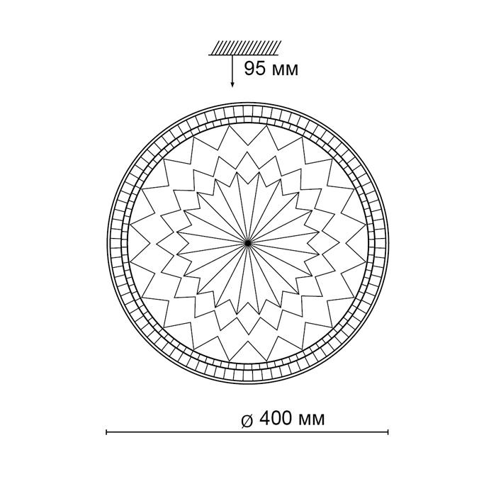 2Светодиодный накладной светильник 2082/EL Сонекс
