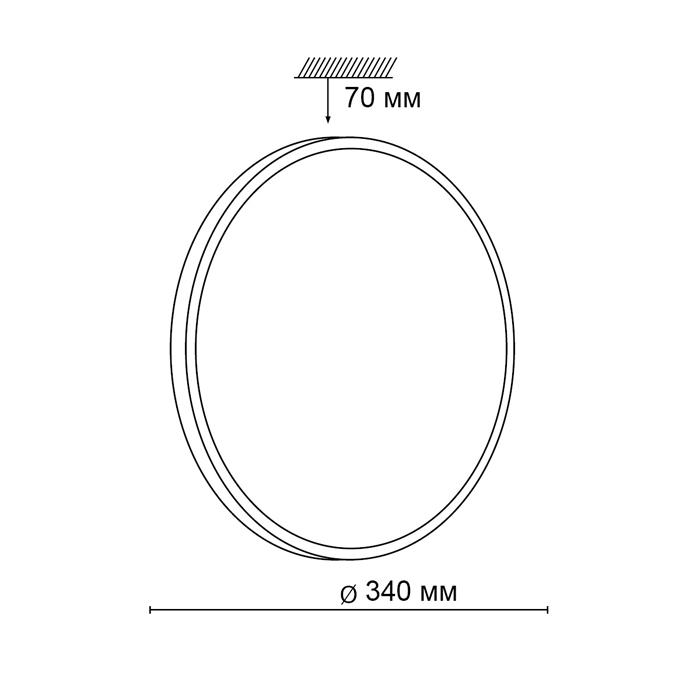 2Настенно-потолочный светильник 2087/CL круглой формы