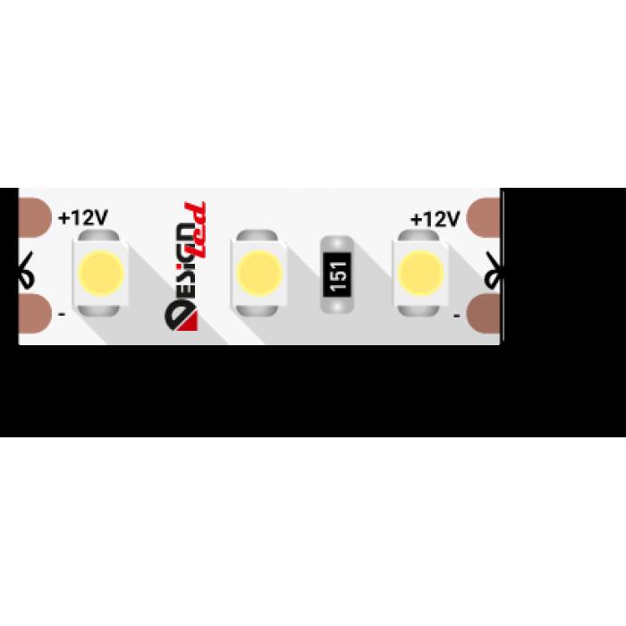 1Лента светодиодная LUX, 3528, 120 LED/м, 9,6 Вт/м, 12В, IP33, Холодный белый (6000K)