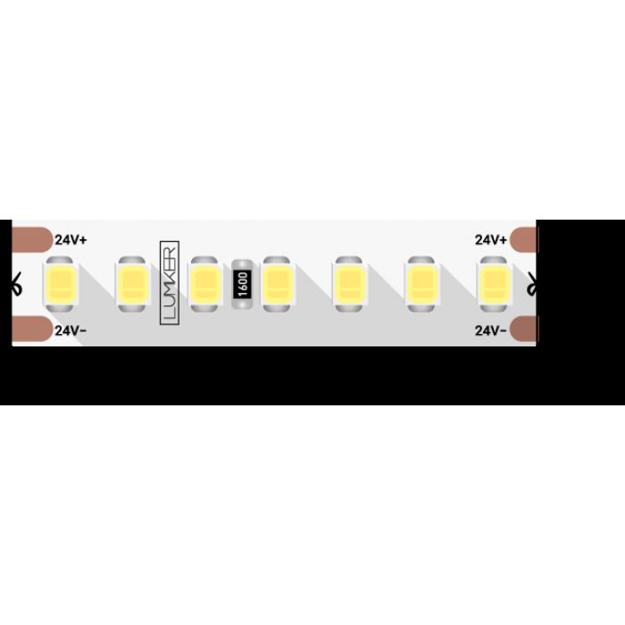 1Лента светодиодная LUX, 2835, 168 LED/м, 17 Вт/м, 24В, IP33, Нейтральный белый (4000K)