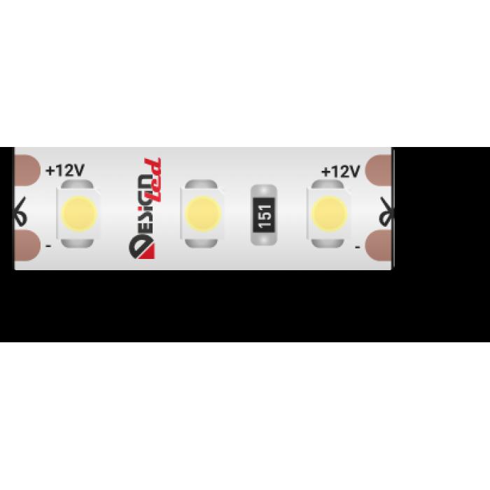 1Лента светодиодная LUX, 3528, 120 LED/м, 9,6 Вт/м, 12В, IP65, Нейтральный белый (4000K)