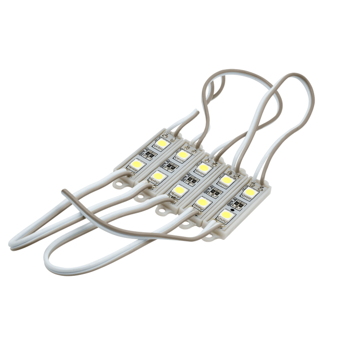 1SMD5050*2LED, 7500-8000K, IP65 0,48W DC12V 120° 26-40 LM, 15 см