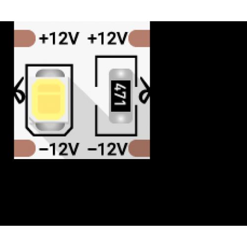 002769 Лента светодиодная стандарт 2835, 100 LED/м, 24 Вт/м, 12В, IP20, Цвет: Нейтральный белый