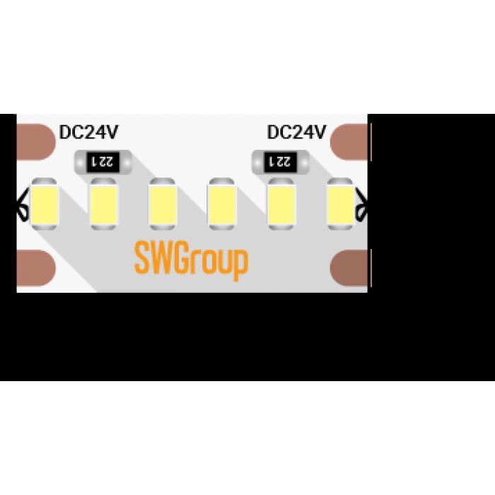 1Лента светодиодная стандарт 2216, 300 LED/м, 19,4 Вт/м, 24В, IP20, Цвет: Теплый белый