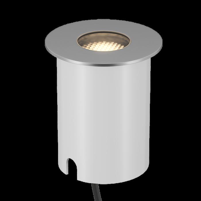 1Светильник ландшафтный встраиваемый, серия AL, серебряный, 7Вт, IP67, Нейтральный белый (4000К)