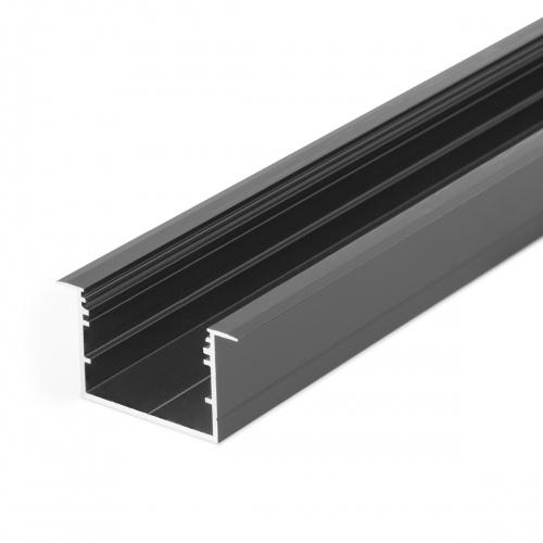 V3260021 VARIO30-07 Алюминиевый профиль встраиваемый Topmet 2000мм, черный анодированный алюминий