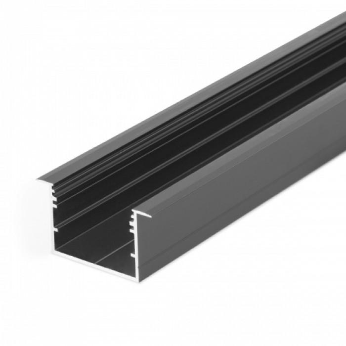 1V3270021 VARIO30-07 Алюминиевый профиль встраиваемый Topmet 3000мм, черный анодированный алюминий