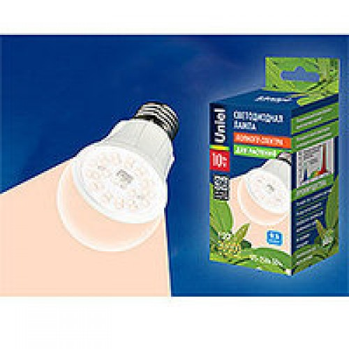 1820 LED-A60-10W/SPFR/E27/CL Лампа светодиодная для растений Uniel