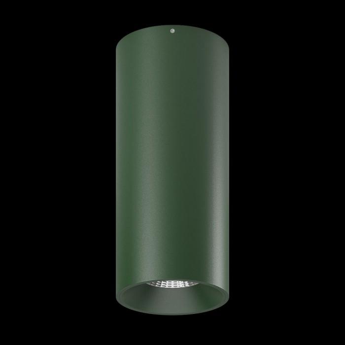 1Светильник VILLY, потолочный накладной, 15Вт, 3000K, темно-зеленый