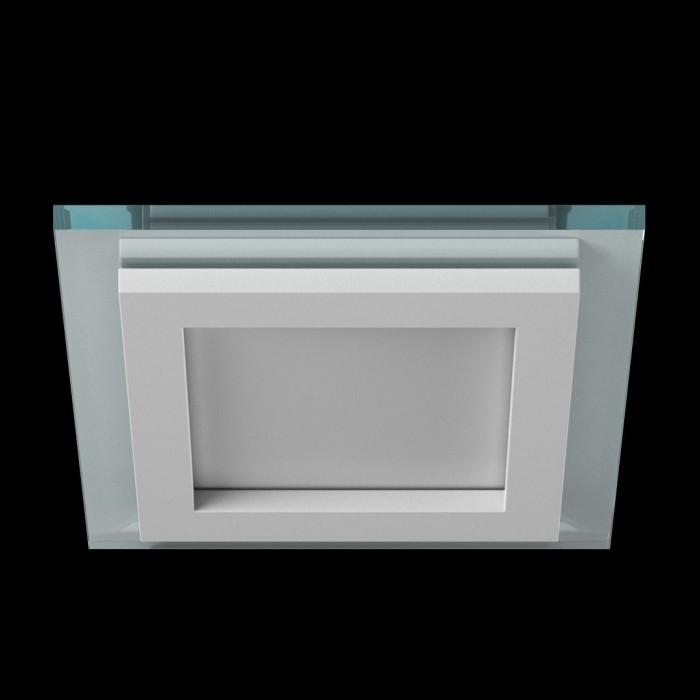 1Светильник светодиодный потолочный встраиваемый P, Белый, Сталь/Стекло, Холодный белый (6000-6500K), 6Вт, IP20