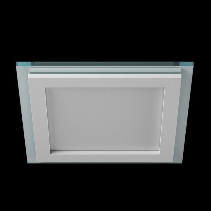 1Светильник светодиодный потолочный встраиваемый, Белый, Сталь/Стекло, Нейтральный белый (4000-4500K), IP20