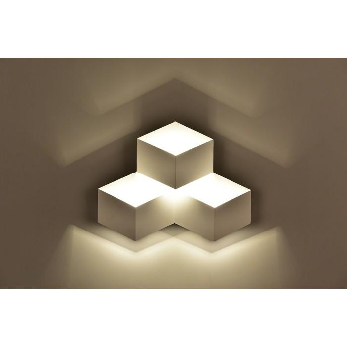 2Бра декоративное PALMIRA, белый, 9Вт, 4000K, IP20, GW-1101-3-9-WH-NW