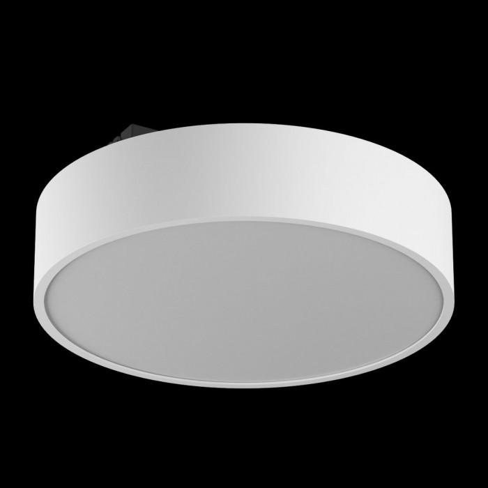 1Светильник светодиодный потолочный накладной наклонный, белый, 25Вт, IP44, Теплый белый (3000К)