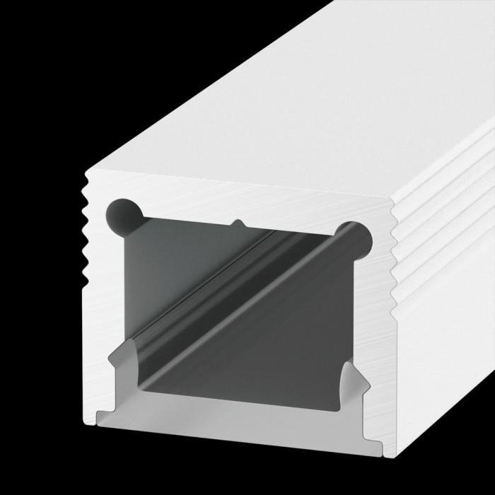 1Накладной алюминиевый профиль LS.1613 белый, для однорядной ленты