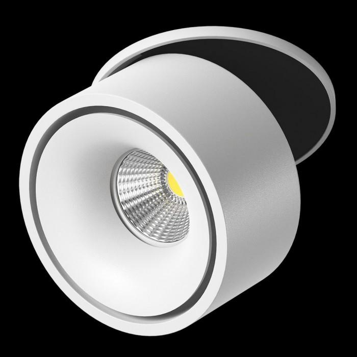 2Светильник светодиодный потолочный встраиваемый поворотный, серия MJ-1001, белый, 13Вт, IP20, Теплый белый (3000К)