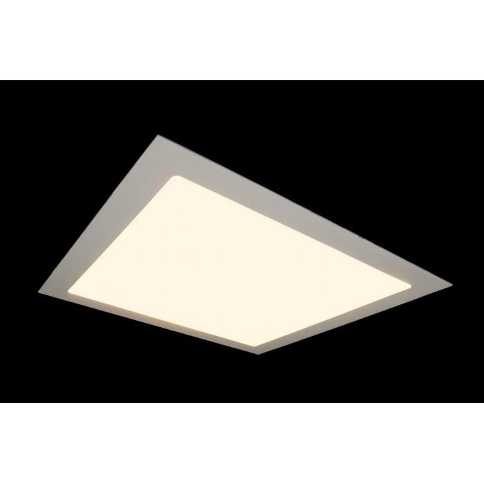 2Светильник светодиодный потолочный встраиваемый PL, Белый, Пластик + алюминий, Теплый белый (2700-3000K), 24Вт, IP20