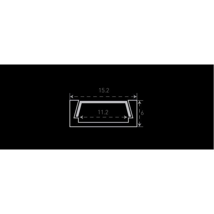 2Алюминиевый профиль накладной SF-1506