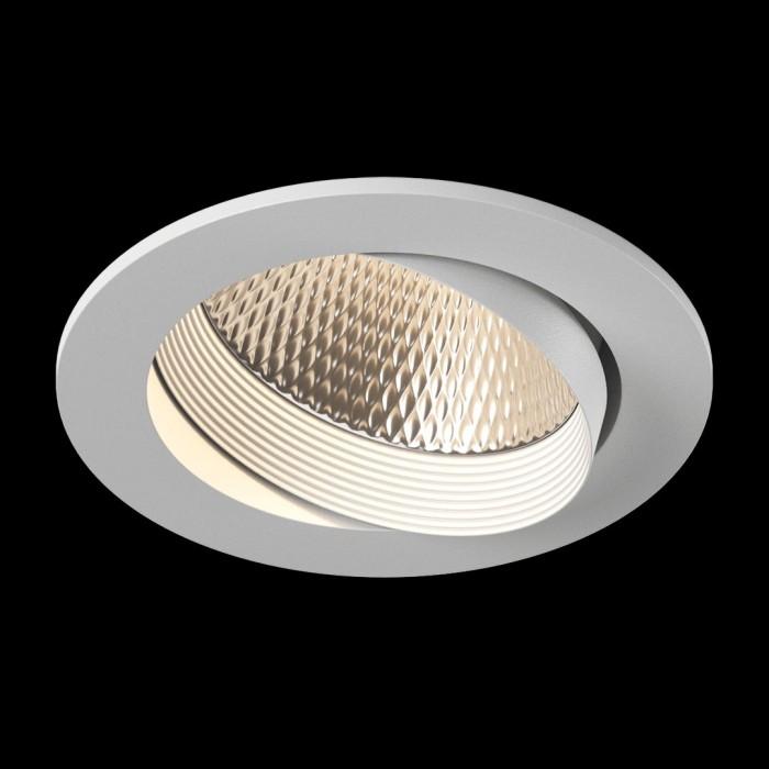 2Светильник светодиодный потолочный встраиваемый наклонный, серия DL-KZ, белый, 12Вт, IP20, Нейтральный белый (4000К)