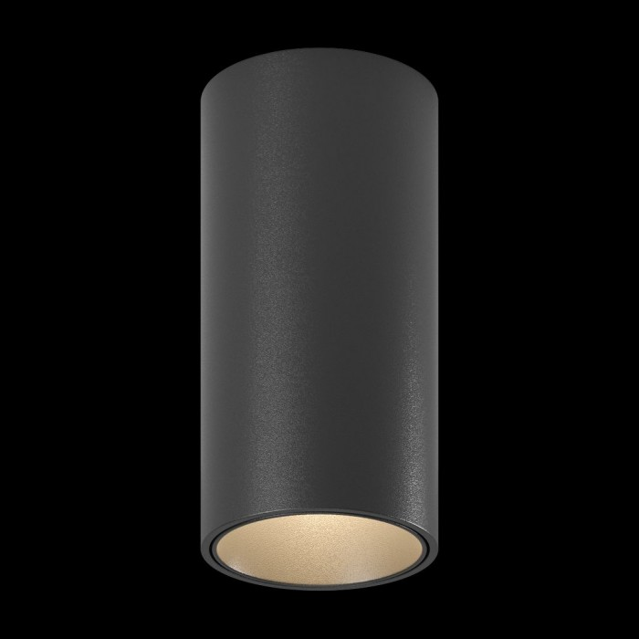 2Светильник MINI VILLY S укороченный, потолочный накладной, 9Вт, 3000K, черный