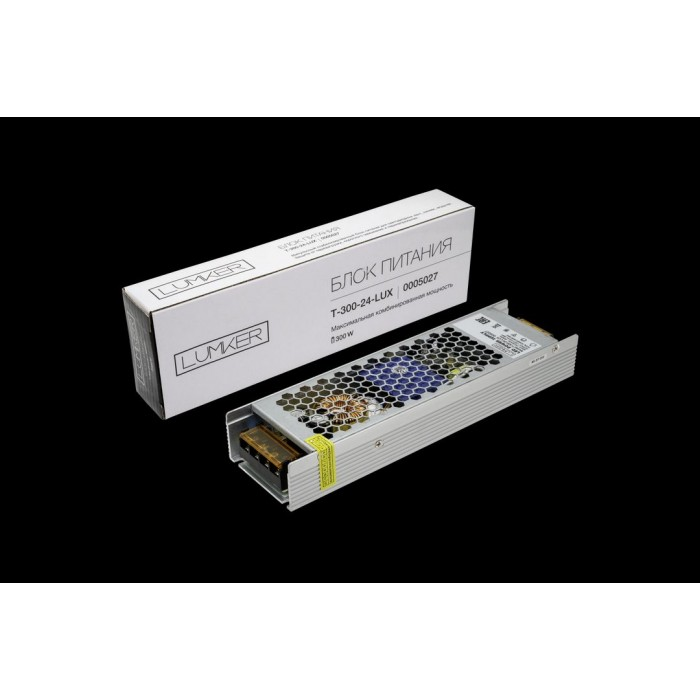1Блок питания для светодиодной ленты LUX компактный, 24В, 300Вт, IP20