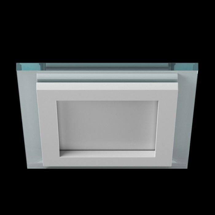1Светильник светодиодный потолочный встраиваемый P, Белый, Сталь/Стекло, Нейтральный белый (4000-4500K), 6Вт, IP20