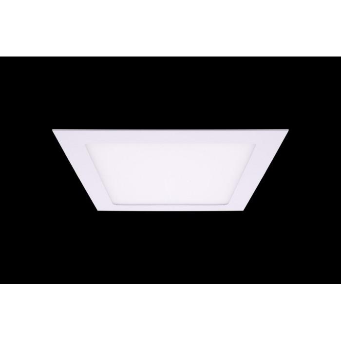 1Светильник светодиодный потолочный встраиваемый PL, Белый, Пластик + алюминий, Теплый белый (2700-3000K), 18Вт, IP20