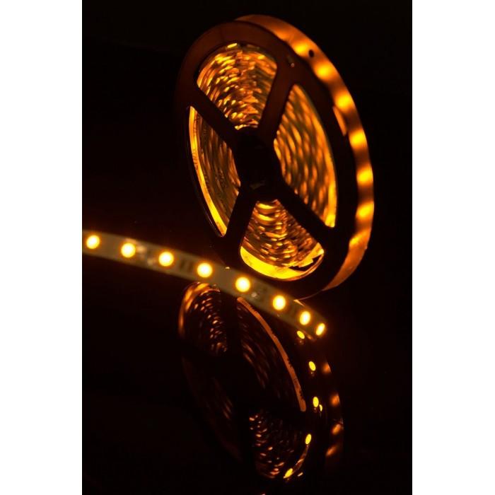 2Лента светодиодная стандарт 5050, 60 LED/м, 14,4 Вт/м, 12В, IP20, Цвет: Желтый