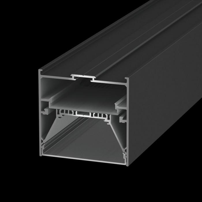 1Подвеснойвстраиваемый/накладной алюминиевый профиль L9086, черный