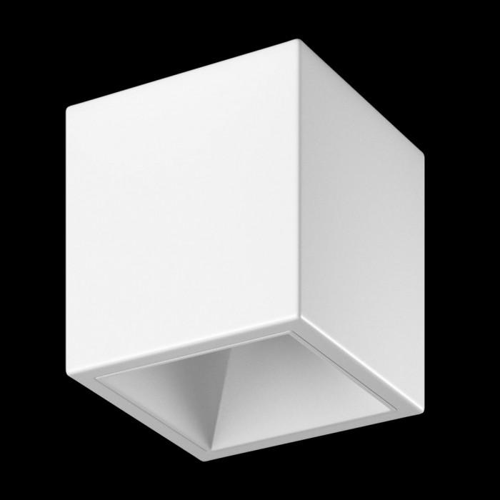 1Светильник светодиодный потолочный накладной, серия DL-SPL, белый, 18Вт, IP20, Теплый белый (3000К)