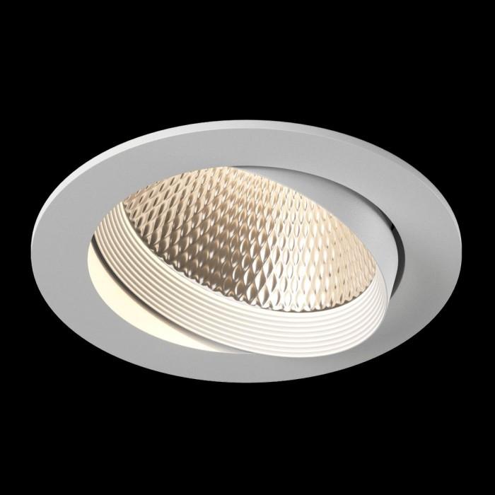 2Светильник светодиодный потолочный встраиваемый наклонный, серия DL-KZ, белый, 18Вт, IP20, Теплый белый (3000К)
