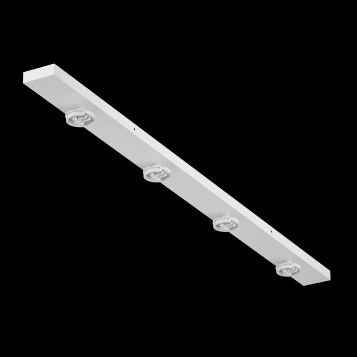1Крепление сменное М14 для светильников MINI VILLY, поворотное накладное четверное, цвет белый