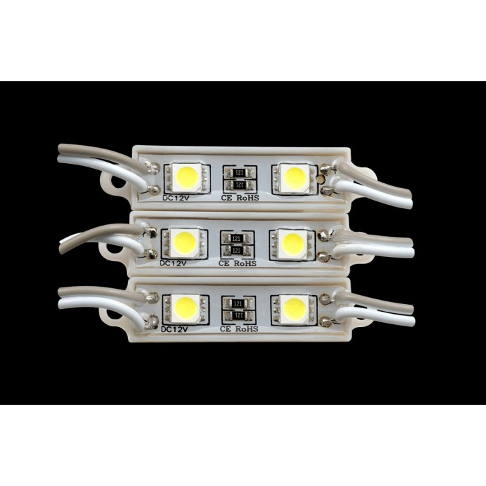 2SMD5050*2LED, 7500-8000K, IP65 0,48W DC12V 120° 26-40 LM, 15 см